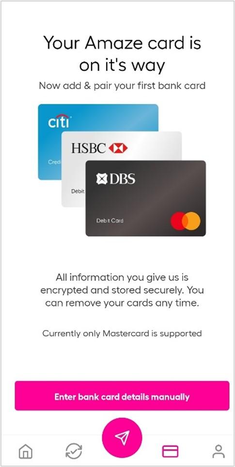 Screenshot of amaze card linking