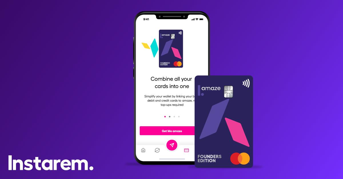 Instarem app and amaze card