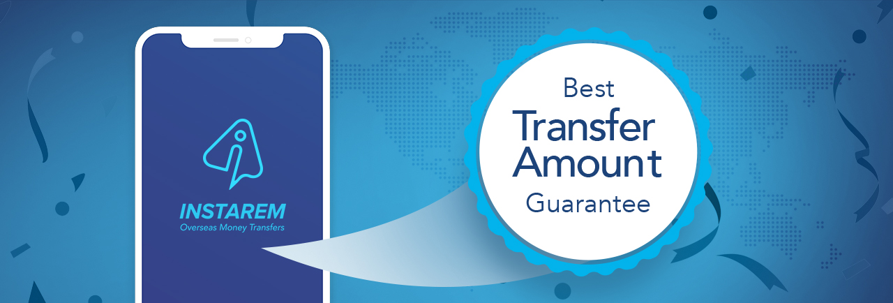 Best Transfer Amount Guarantee InstaRem Banner